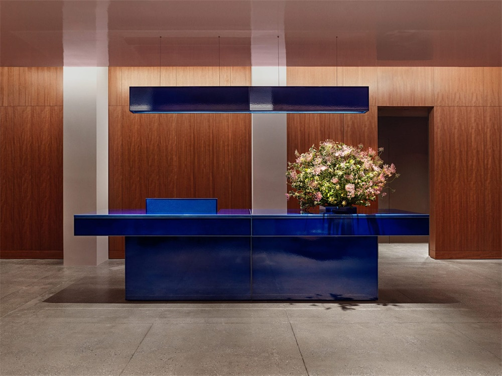 高雅蓝色调!纽约现代风格办公室设计