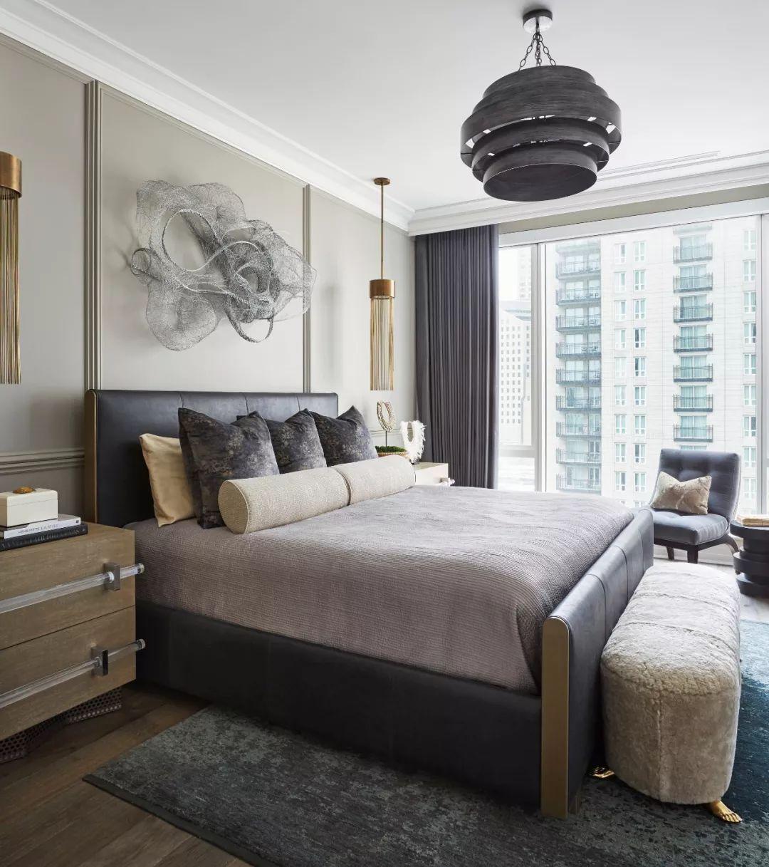 颜色,纹理和主题统一,芝加哥豪华高层住宅设计