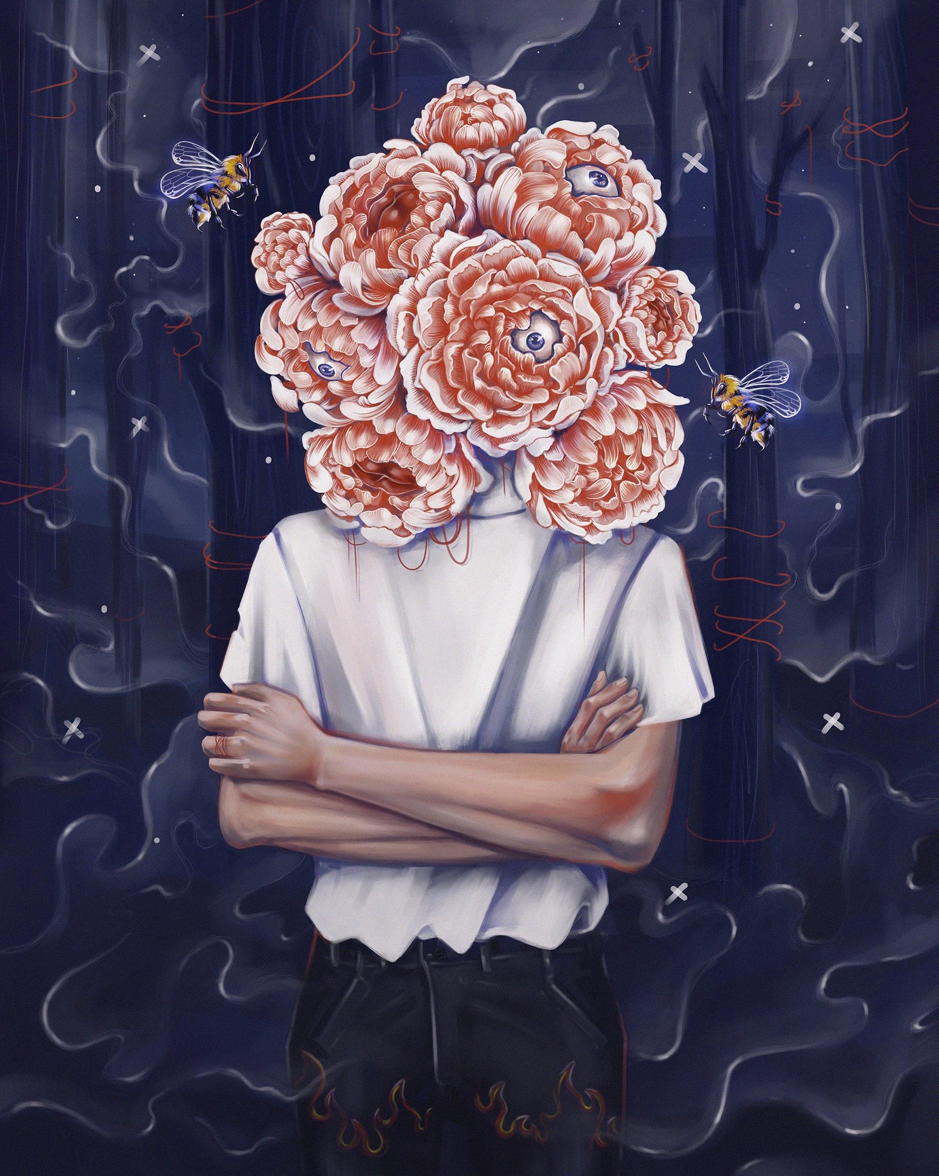 Ioana Harasim超现实风格插画作品