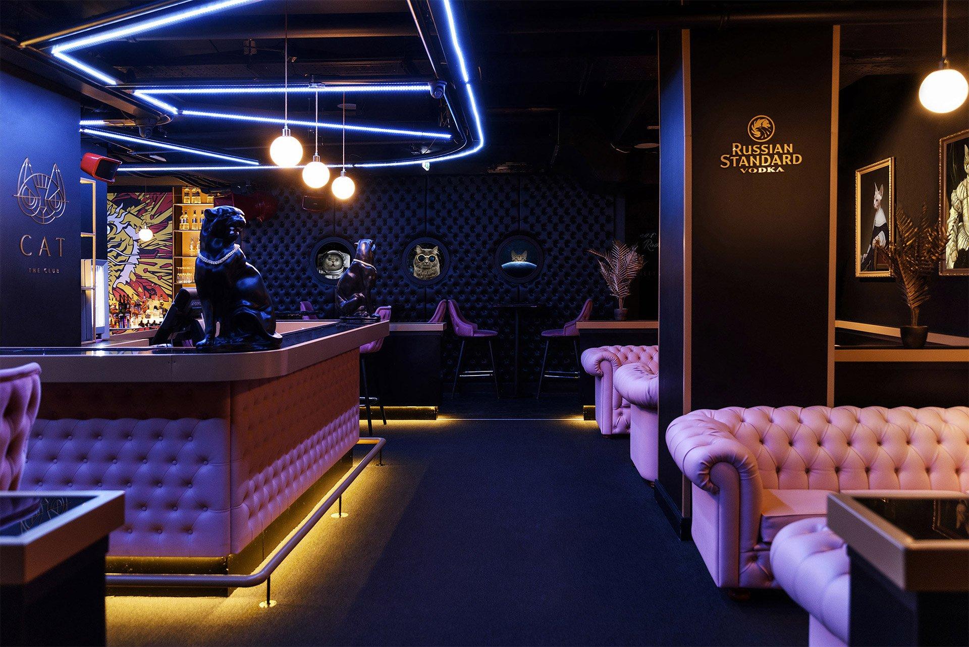 布达佩斯猫咪酒吧和舞蹈俱乐部品牌视觉设计