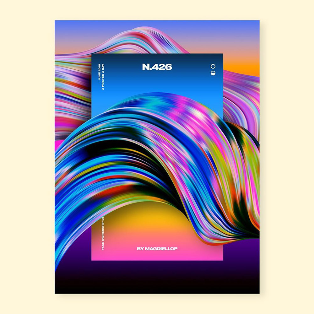炫目的色彩世界 Magdiel Lopez海报设计作品