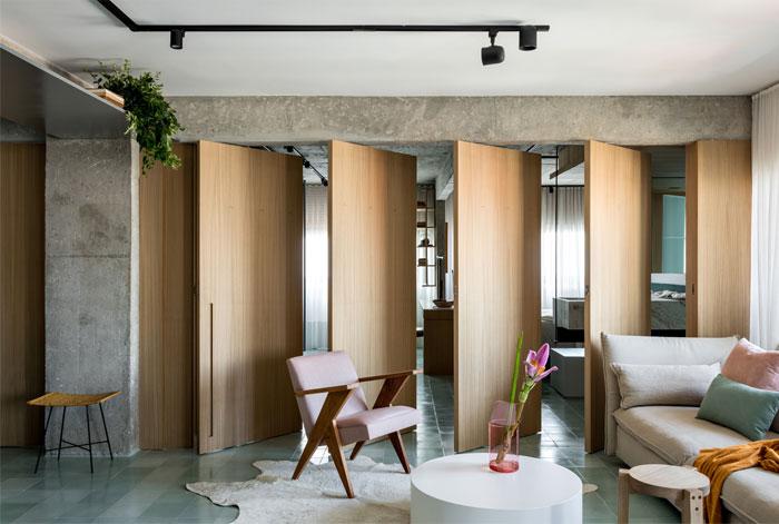 现代设计与复古艺术风格相结合 圣保罗130平精致公寓