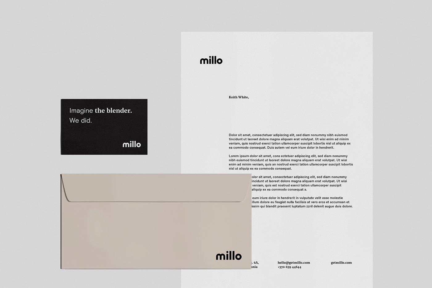 Millo厨房搅拌器品牌视觉设计