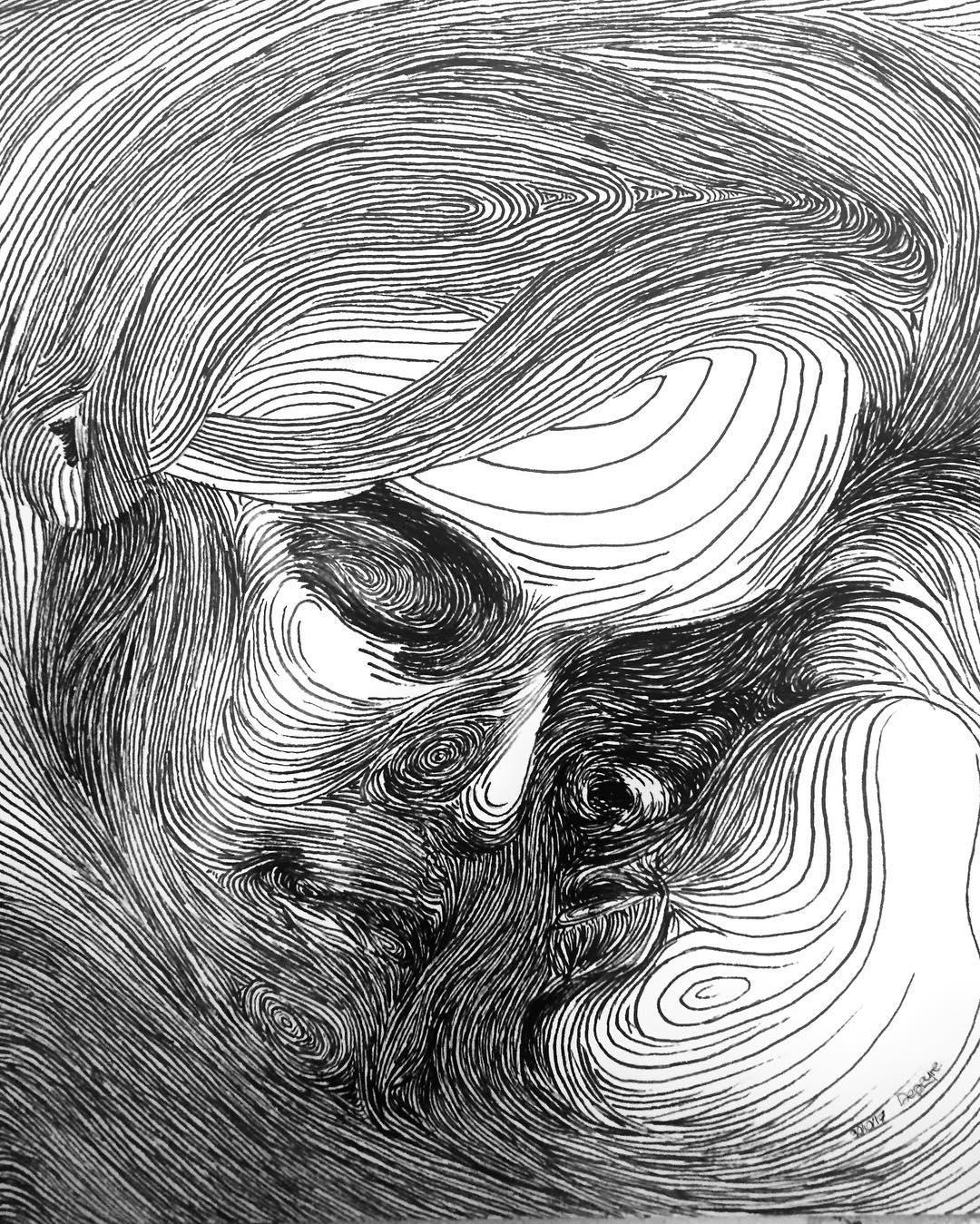 Dominic Depeyre令人着迷的动感线条绘画作品