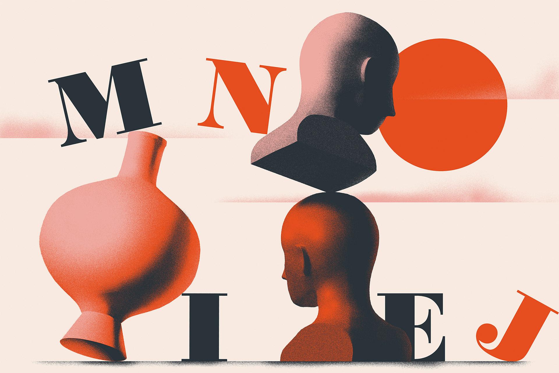 充分利用颜色和纹理 Tomasz Wozniakowski复古风格插图设计