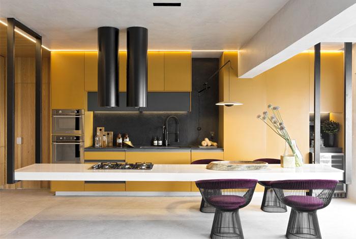 悬浮厨房岛台和时尚装饰元素:豪华的Dijon厨房设计
