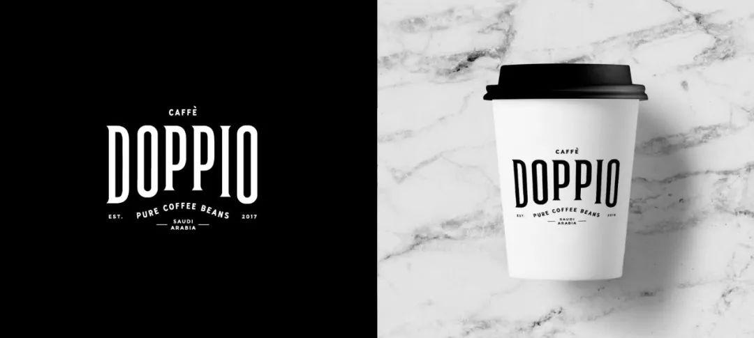 优雅高贵的阿拉伯马 咖啡品牌Doppio Caffè视觉VI设计