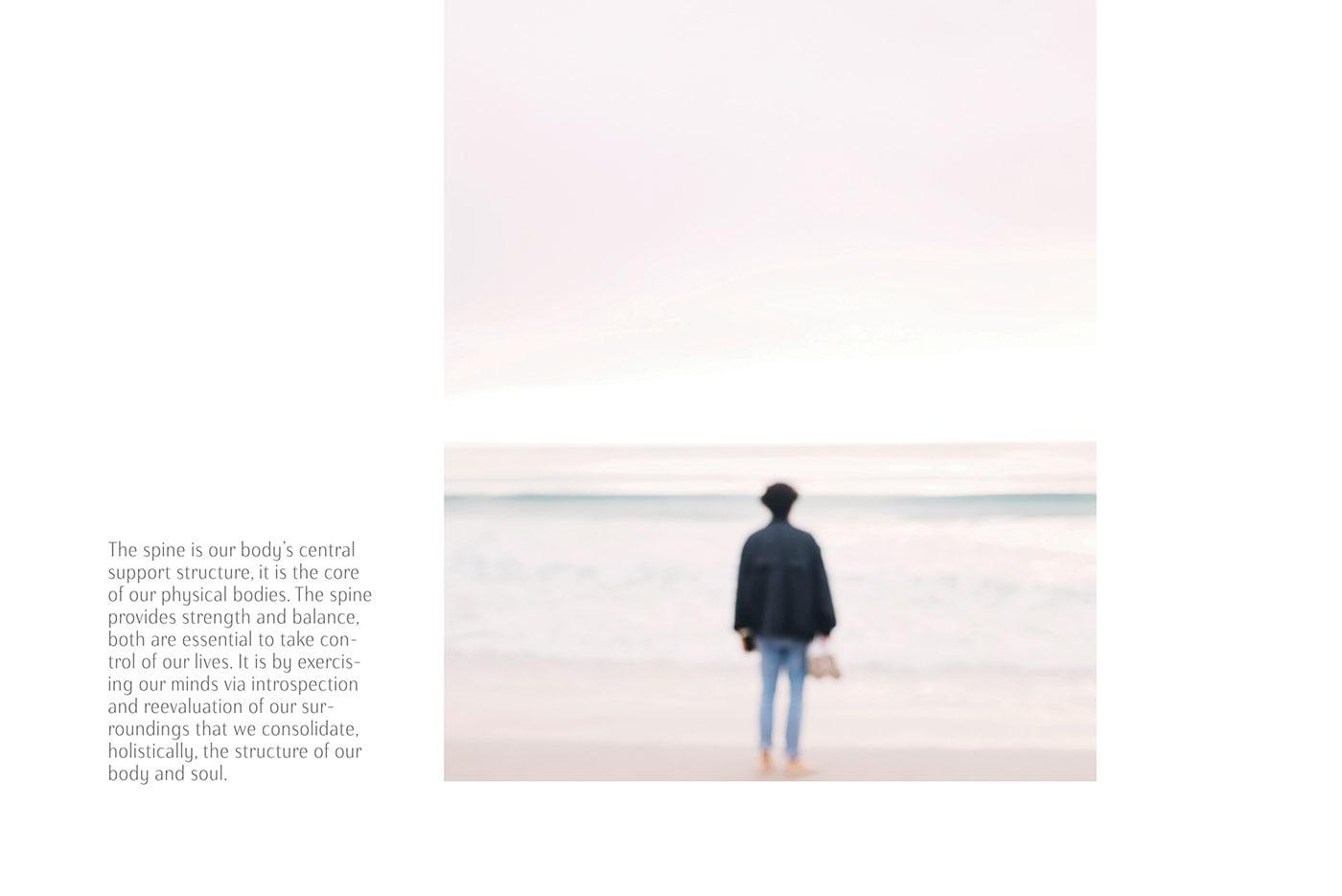 清新极简风 Spine季刊杂志版面设计