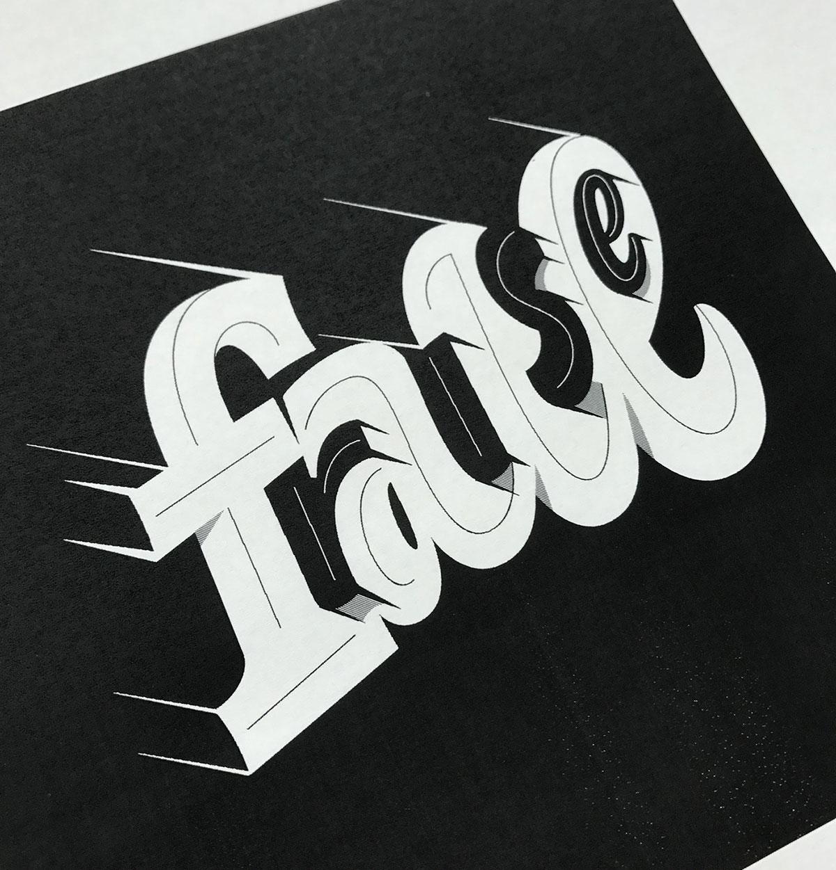 一场视觉盛宴!Mark Caneso出色的字体设计