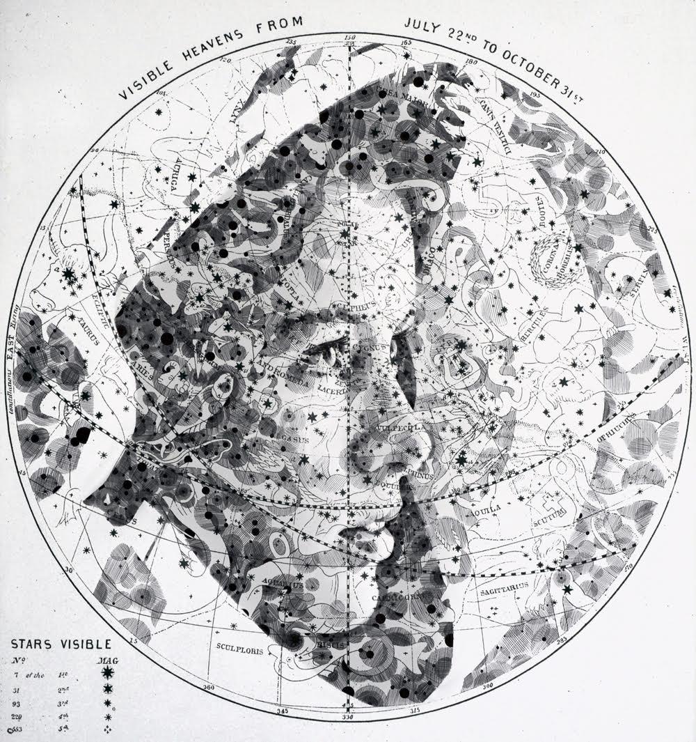 Ed Fairburn隐藏在地图上的肖像插画