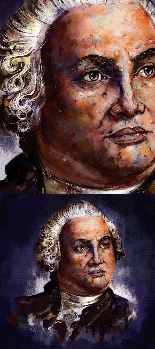 Ahmed Karam传统油画风格的数字肖像插画