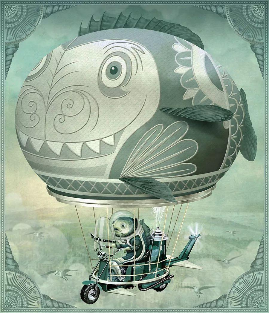 Jeff Drew富有想象力的插画作品