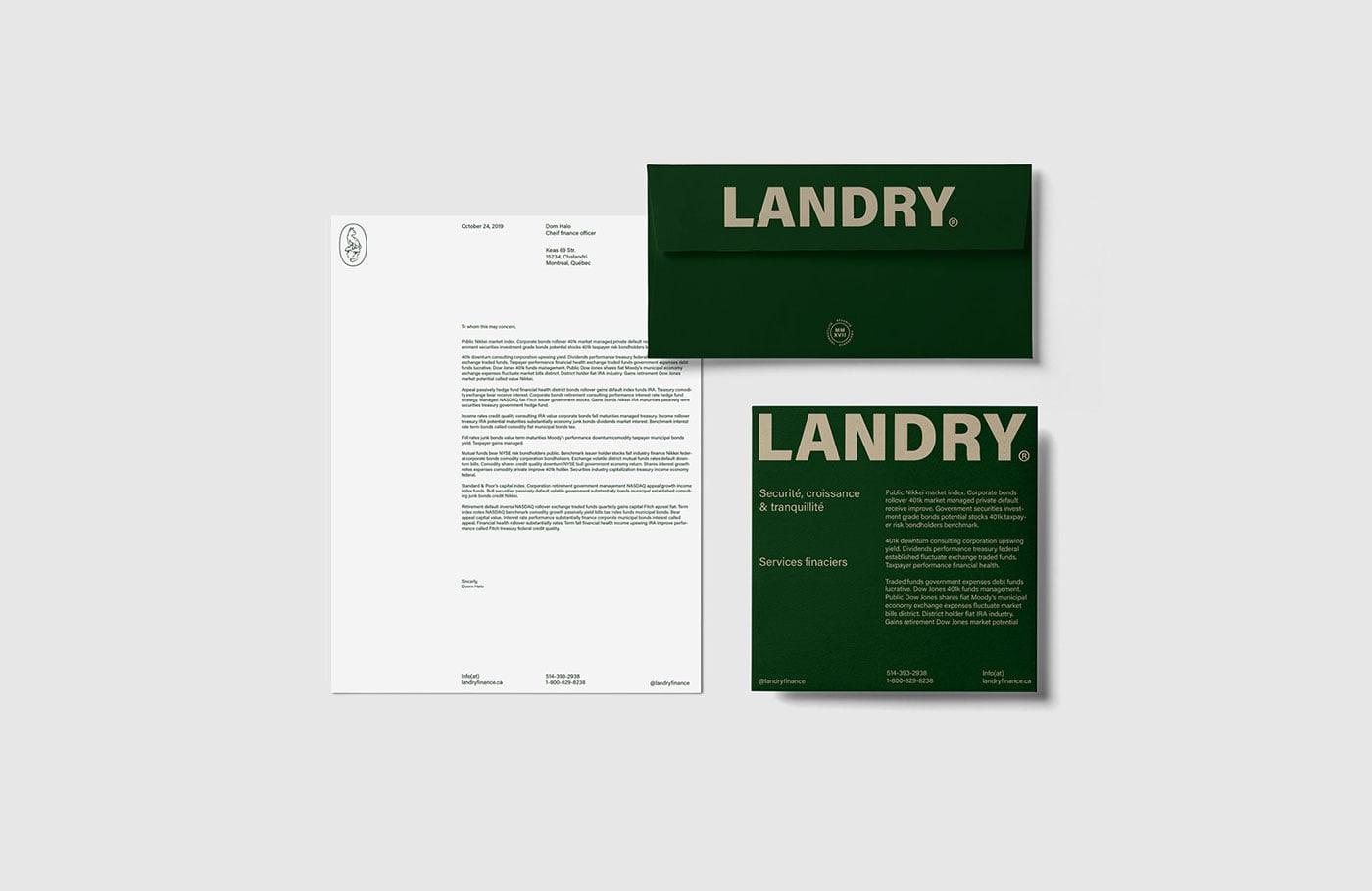 财务管理公司Landry品牌VI设计