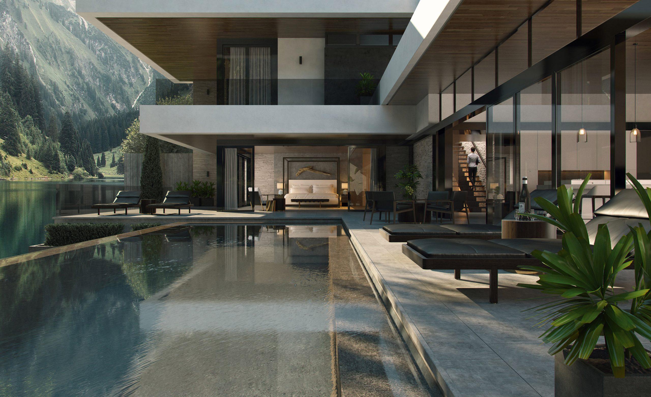 悉尼的建筑师Jeffrey Faranial华丽的建筑效果图和概念设计