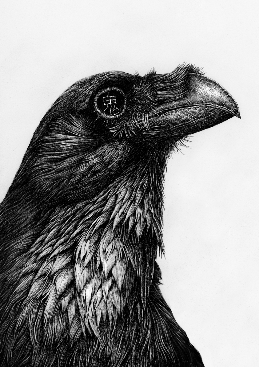 Karl Trewhela暗黑手绘风动物插画作品