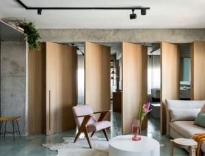 现代设计与复古艺术风格相结合 圣保罗130平精