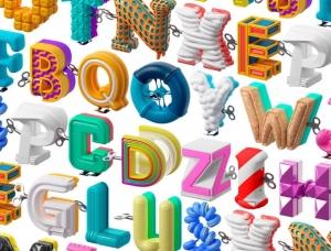 26个字母形状的发条玩具 西班牙设计师Marc U