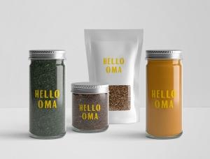 农产品销售商店Hello Oma视觉识别w88手机官网平台首页