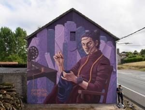 西班牙Lidia Cao户外大型壁画和街头艺术作品