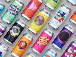 活力现代和叛逆感的几何图案:HALO啤酒包装设计