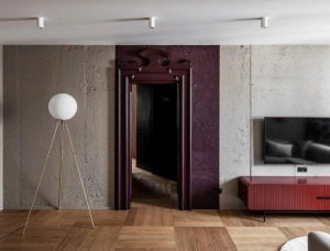 乌克兰时尚复古风格公寓设计