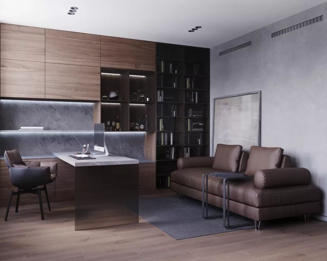 大理石与木材融合,细腻与精致的150平品质复式住宅