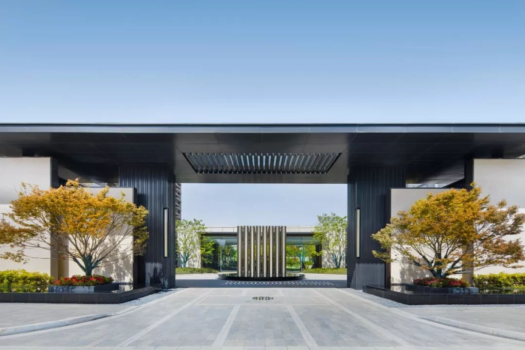 80个售楼部样板示范区景观大门设计