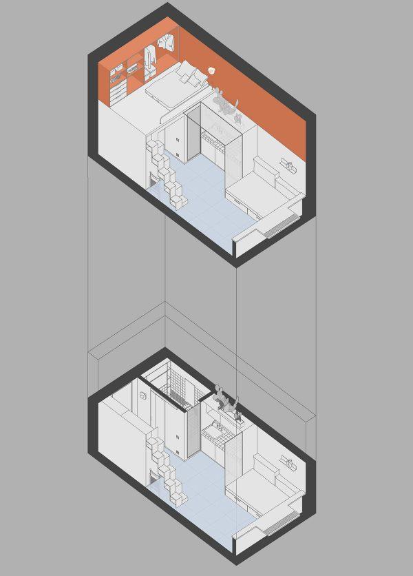 散发时尚气息!4个超级紧凑的单身小公寓设计