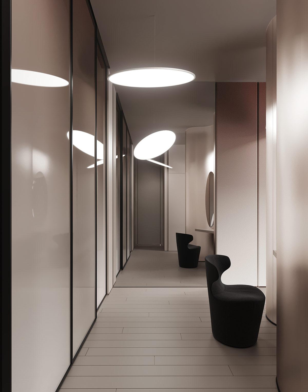 星际飞船风格家具的未来派家居装修设计