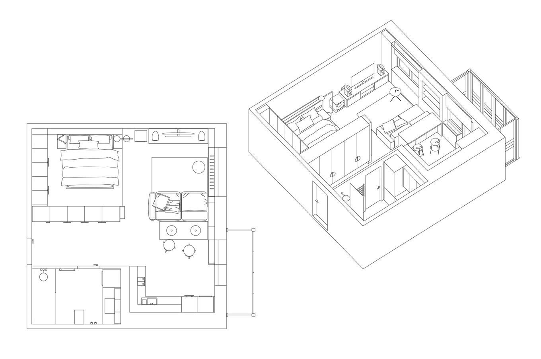 极简北欧 精致舒适的单身公寓设计