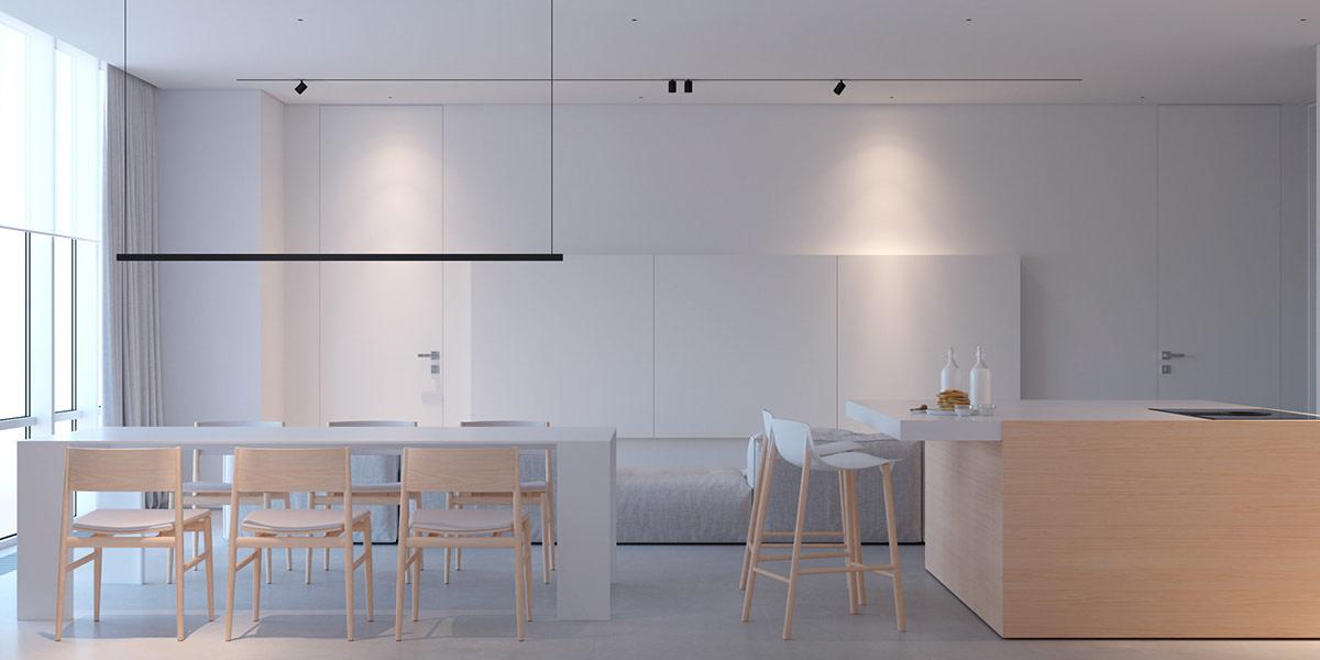 精致的纯白极简风格家居设计