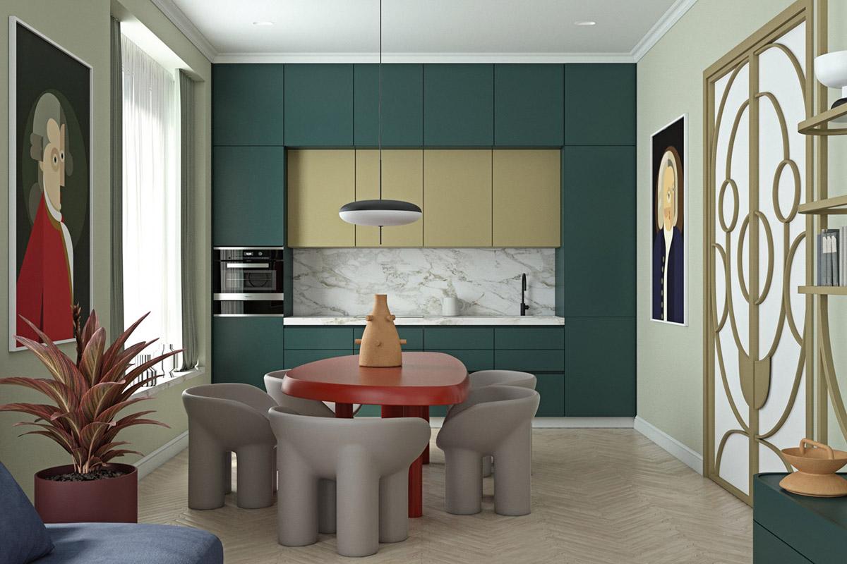 4个绿色主题家居装修设计
