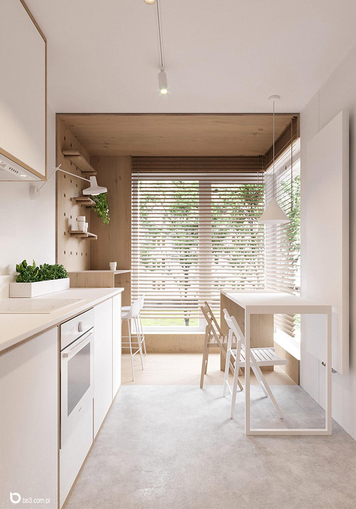 清新自然的绿植:5个美丽简洁的公寓设计