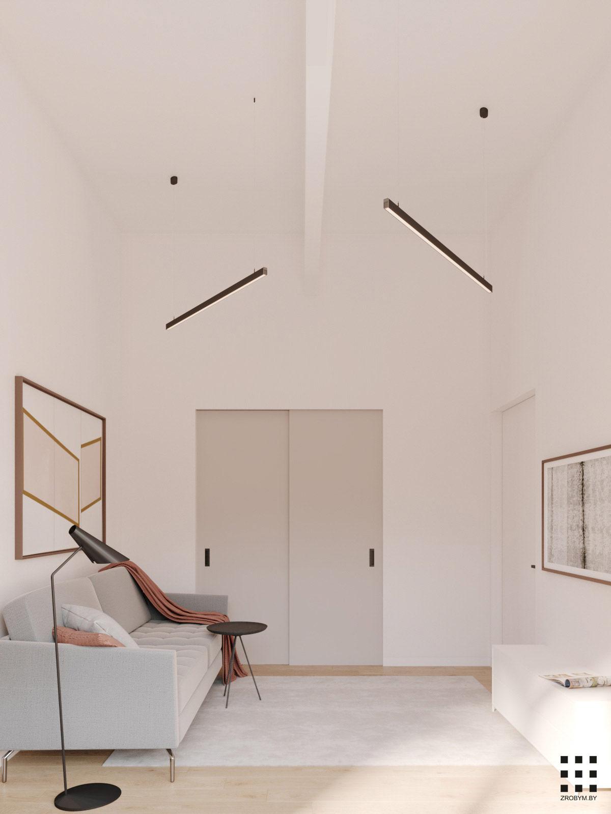 80平米清新而温馨的现代公寓设计
