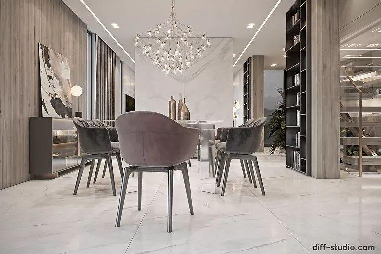 巴黎轻奢时尚的现代住宅设计