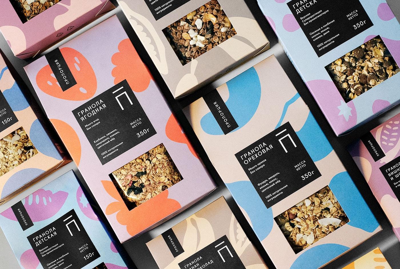 Proportsya麦片包装设计