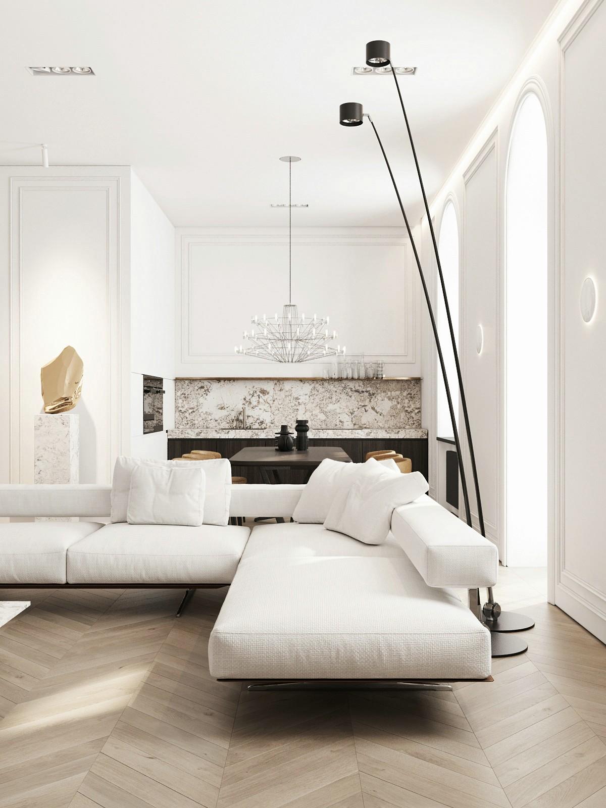 浪漫的极简主义:纯白色精致家居