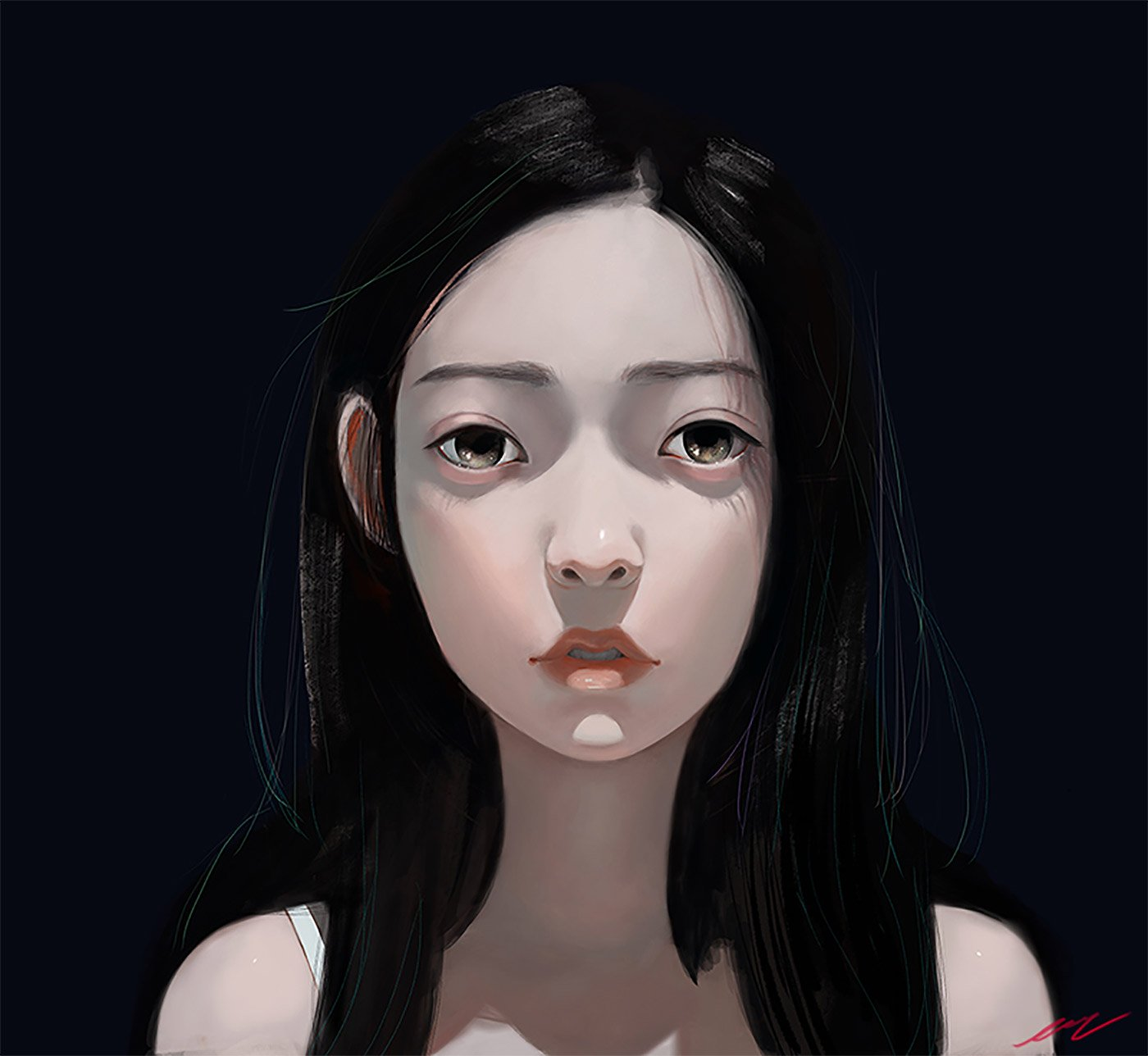 Joanne Nam冷艳忧郁的人物插画作品