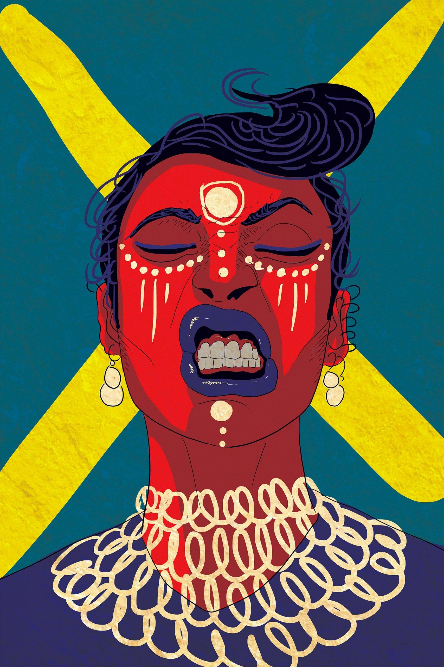 体育资讯_巴基斯坦艺术家Amara Sikander女性人物肖像插画 - 设计之家