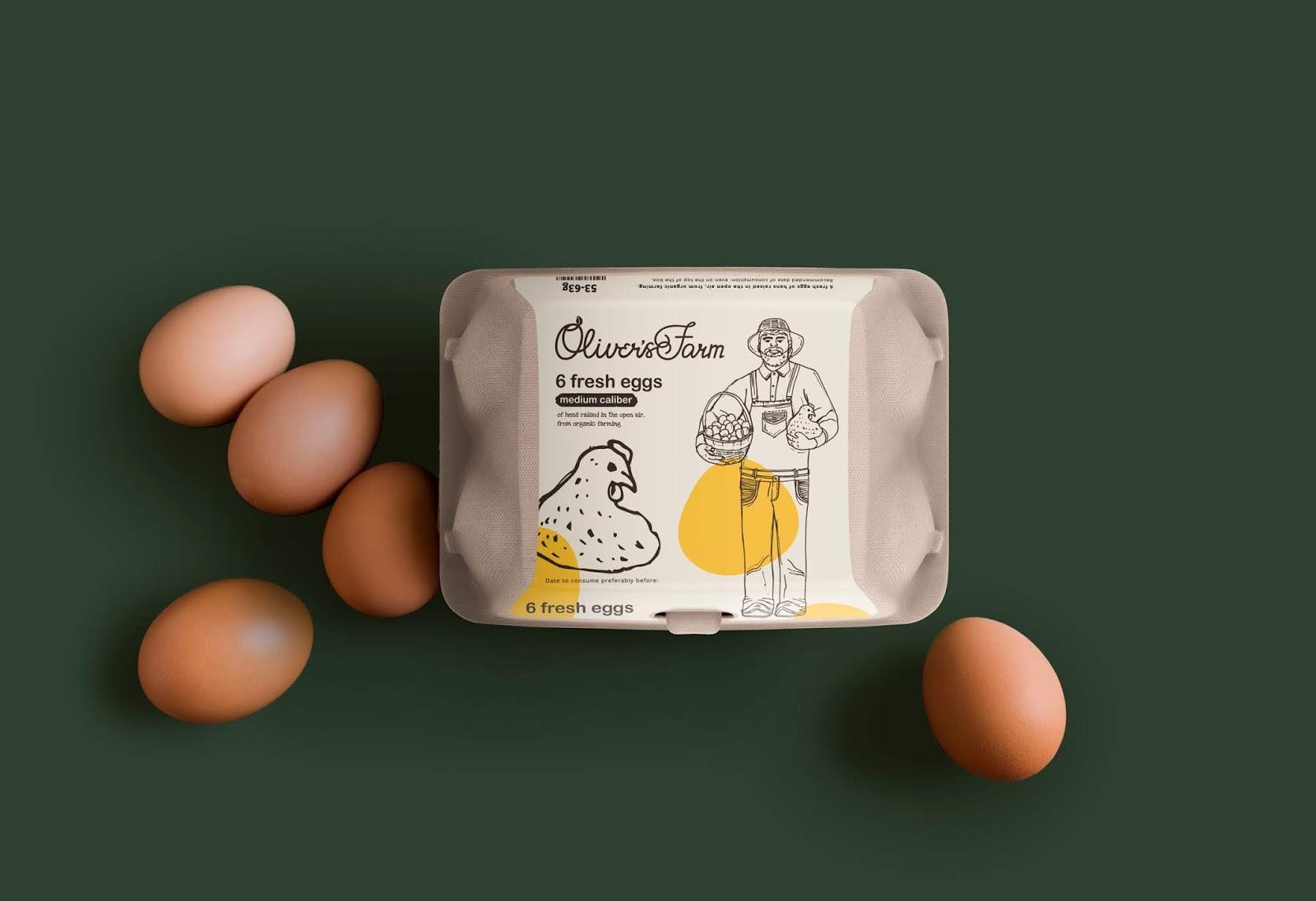 Oliver's Farm鸡蛋包装盒设计