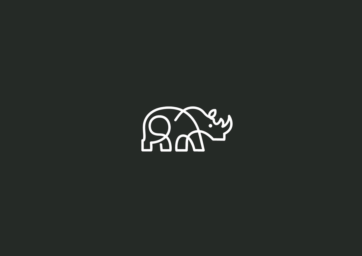 Martigny Matthieu单一线条创作的动物logo设计