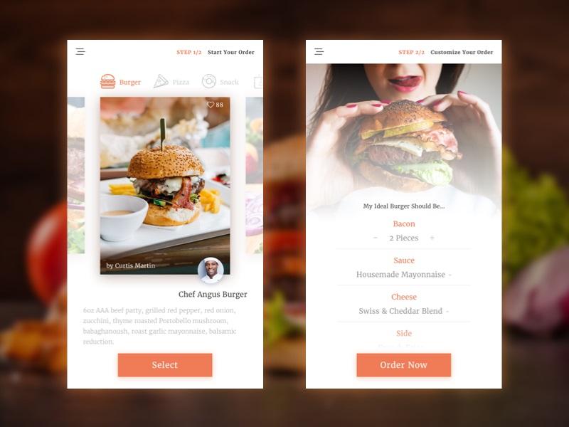 美食快餐APP界面UI设计