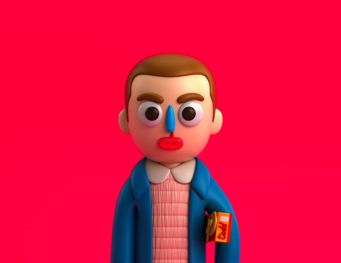 Tadeo Soriano可爱Q版3D角色设计