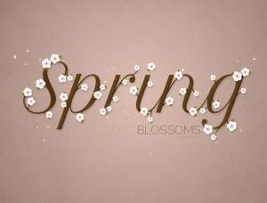 PS制作开满花朵的时尚艺术字