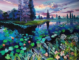 迷人的色彩和纹理 Anastasia Trusova乡村和森林油画作品