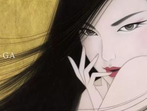 风情万种的东方女子:日本画家鹤田一郎作品欣赏