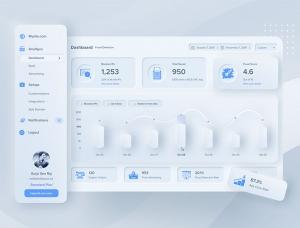 UI新趋势:30个新拟物风格(Neuomorphism)UI设计