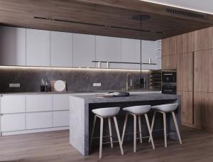 大理石与木材融合,细腻与精致的150平品质复