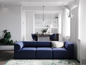 那一抹优雅气质蓝!65平精致小公寓设计