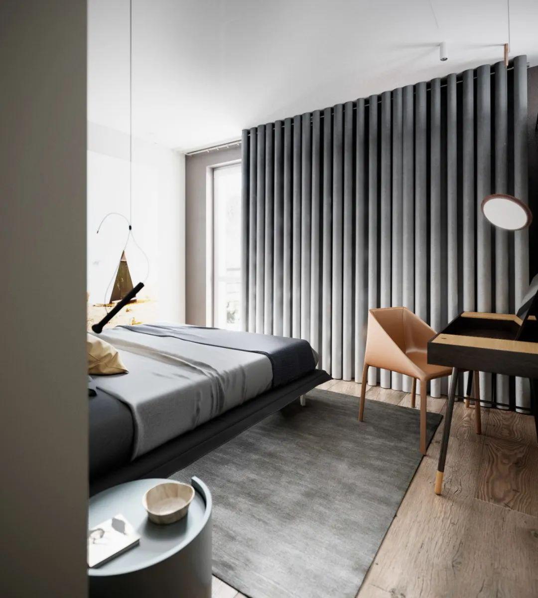 简约富有质感的86平现代住宅